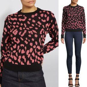 NWT Alice + Olivia Chia Leopard Sweater Size XS